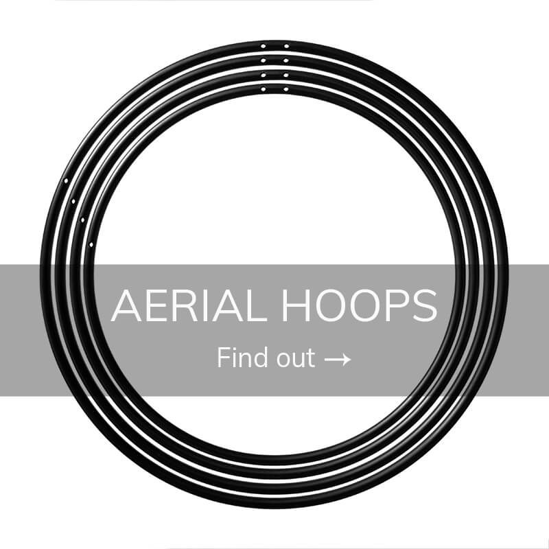 Pole fitness aerial hoops
