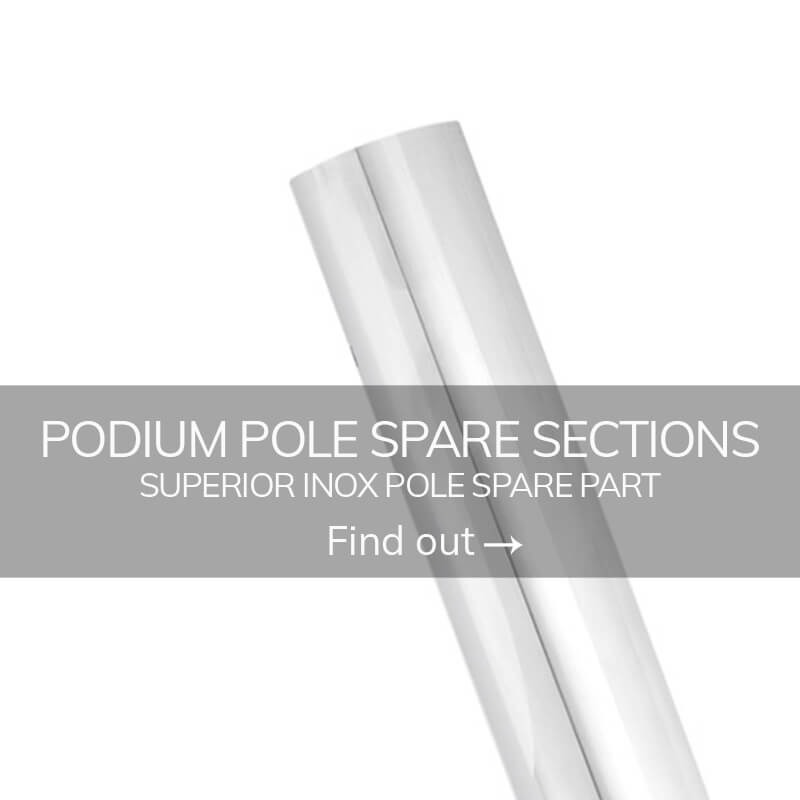 Extension pole dance inox podium pole spare sections