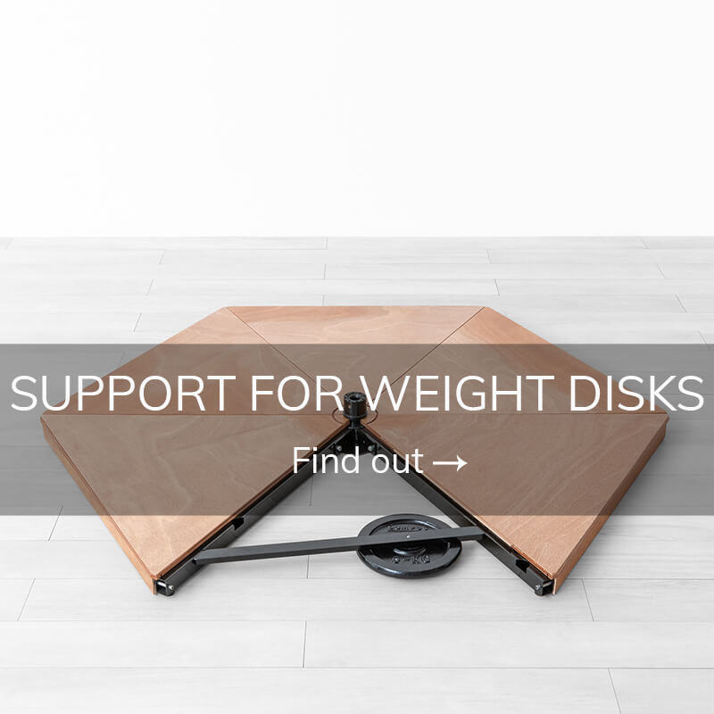 Pole dance stage support for weight disks