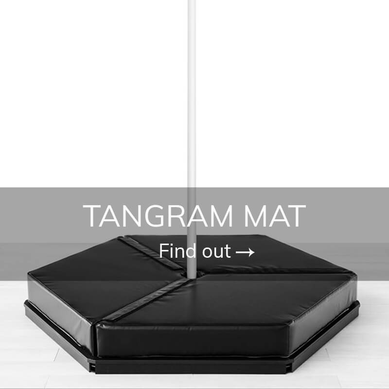 Pole dance stage tangram mat
