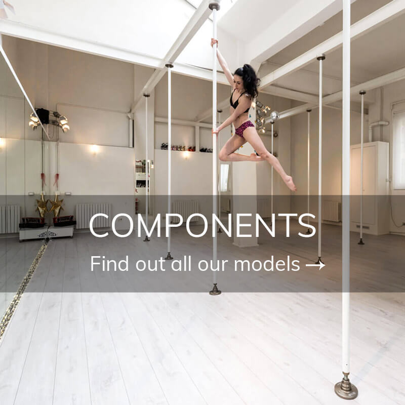 Pole dance equipment components